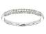 White Diamond 10k White Gold Ring .25ctw