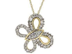 White Diamond 14k Yellow Gold Pendant .50ctw