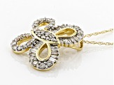 White Diamond 14k Yellow Gold Pendant .50ctw