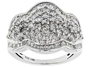 White Diamond 10k White Gold Ring 2.05ctw