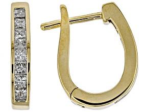 White Diamond 14K Yellow Gold Earrings .43ctw