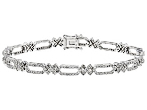 White Diamond 10K White Gold Bracelet 2.12ctw