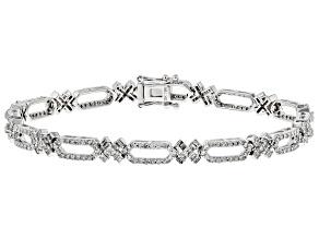White Diamond 10K White Gold Bracelet 2.12ctw