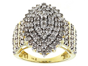 Candlelight Diamonds™ 10k Yellow Gold Cluster Ring 2.00ctw