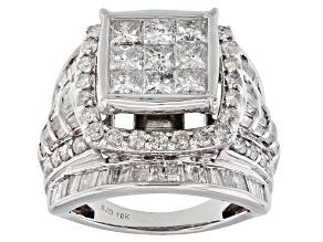 White Diamond 10K White Gold Ring 3.85ctw