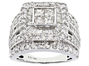 White Diamond 10K White Gold Ring 3.50ctw