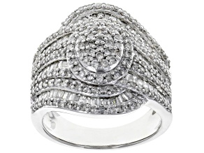 White Diamond 10k White Gold Ring 1.63ctw