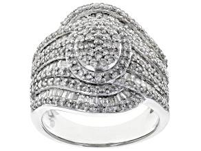 White Diamond 10k White Gold Ring 1.63ctw