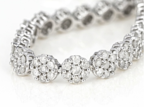 White Diamond 10k White Gold Bracelet 5.00ctw