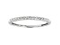 White Diamond 10k White Gold Band Ring 0.15ctw