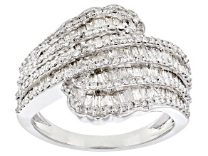 White Diamond 10k White Gold Ring 1.25ctw