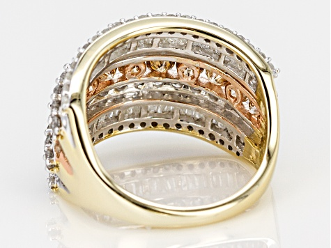 Champagne And White Diamond 10k Yellow Gold Ring 2.68ctw