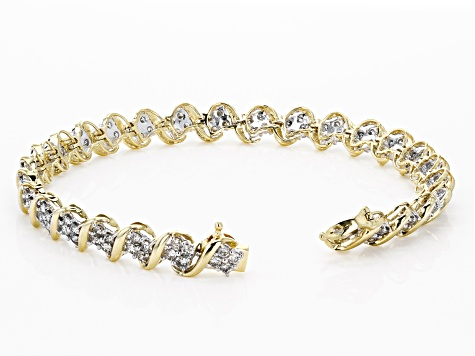 Diamond 10k Yellow Gold Bracelet 4.00ctw