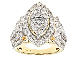 White Diamond 10k Yellow Gold Ring 3.00ctw