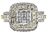 Diamond 10k Yellow Gold Ring With 10k Yellow Gold Rhodium Enhanced Settings 2.00ctw