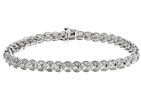 White Diamond 10k White Gold Bracelet 3.00ctw