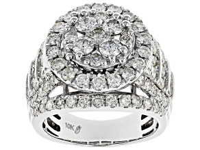 White Diamond 10k White Gold Ring 3.20ctw