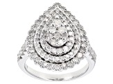 White Diamond 10k White Gold Ring 1.62ctw