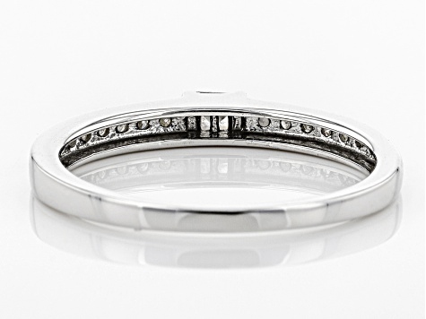 White Diamond 10k White Gold Ring .15ctw