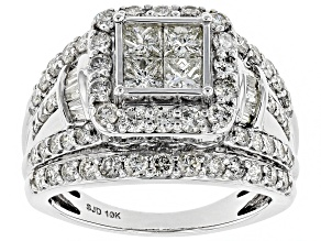 White Diamond 10k White Gold Ring 2.30ctw