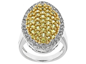 Yellow Sapphire Sterling Silver Ring 2.08ctw