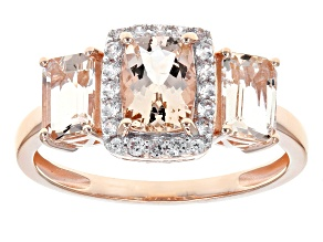 Pink Morganite 10k Rose Gold Ring 1.96ctw