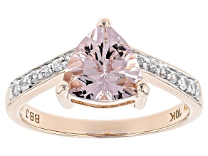 Pink Morganite 10k Rose Gold Ring 1.44ctw