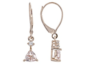 Pink Morganite 10k Rose Gold Earrings .71ctw