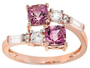 Pink Spinel 10k Rose Gold Bypass Ring 1.66ctw.
