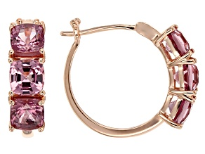 Pink Spinel 10k Rose Gold Earrings 3.00ctw