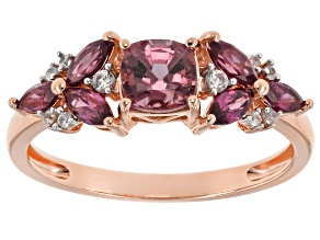 Pink Spinel 10k Rose Gold Ring 1.33ctw.