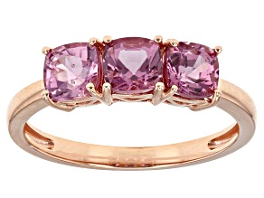Pink Spinel 10k Rose Gold Ring 1.50ctw.