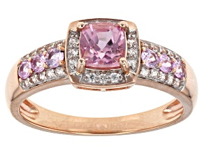 Pink Spinel 10k Rose Gold Ring 0.85ctw.