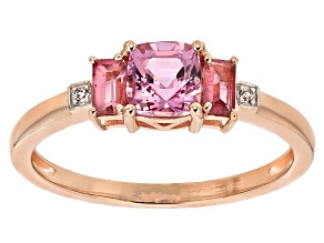 Pink Spinel 10k Rose Gold Ring 0.93ctw