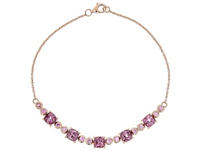 Pink Spinel 10k Rose Gold Bracelet 3.91ctw