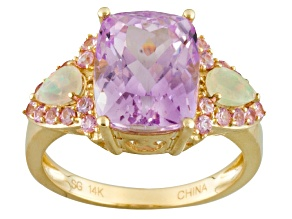 Pink Kunzite 14k Yellow Gold Ring 5.15ctw