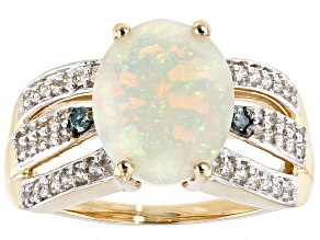 White Ethiopian Opal 14k Yellow Gold Ring 1.59ctw