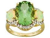 Green Prasiolite 14k Yellow Gold Ring 5.31ctw