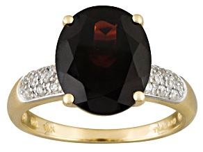 Red Garnet 14k Yellow Gold Ring 5.25ctw