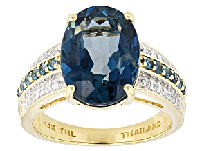 London Blue Topaz 14k Yellow Gold Ring 6.92ctw
