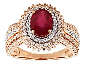 Mahaleo Ruby 14k Rose Gold Ring 2.36ctw