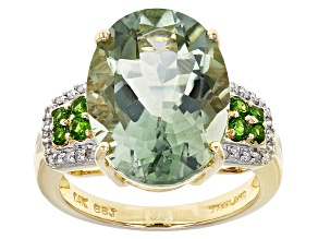 Green Prasiolite 14k Yellow Gold Ring 7.50ctw