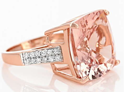 Pink Morganite 14k Rose Gold Ring 20.88ctw