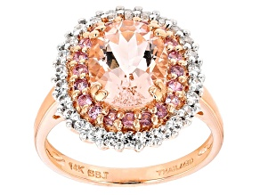 Pink Morganite 14k Rose Gold Ring 2.53ctw