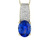 Blue Tanzanite 14k Yellow Gold Pendant With Chain 2.55ctw