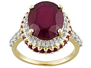 Mahaleo Ruby 14k Yellow Gold Ring 6.57ctw