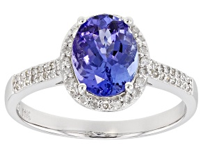 Blue Tanzanite 14k White Gold Ring 1.70ctw