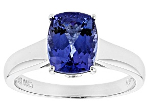 Blue Tanzanite 14k White Gold Ring 1.93ctw