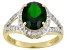 Green Chrome Diopside 14k Yellow Gold Ring 2.48ctw