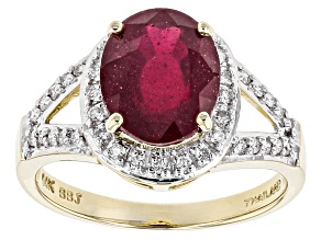 Mahaleo Ruby 14k Yellow Gold Ring 3.84ctw